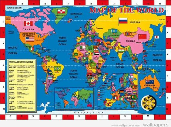 world map with countries – European Map of the World
