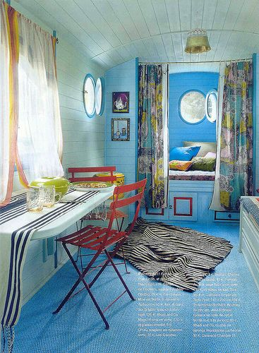 bohemian interior design narrowboat houseboat