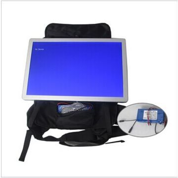 15.6-inch backpack AD player with battery, high resolution