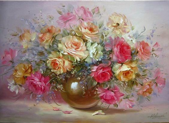 pinturas de flores - Buscar con Google