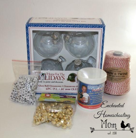 DIY Polar Express Christmas Ornament | Enchanted Homeschooling Mom | Enchanted Homeschooling Mom