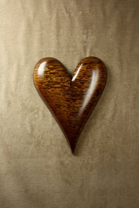 Wall Heart Wood Carving Personalized by TreeWizWoodCarvings, $100.00