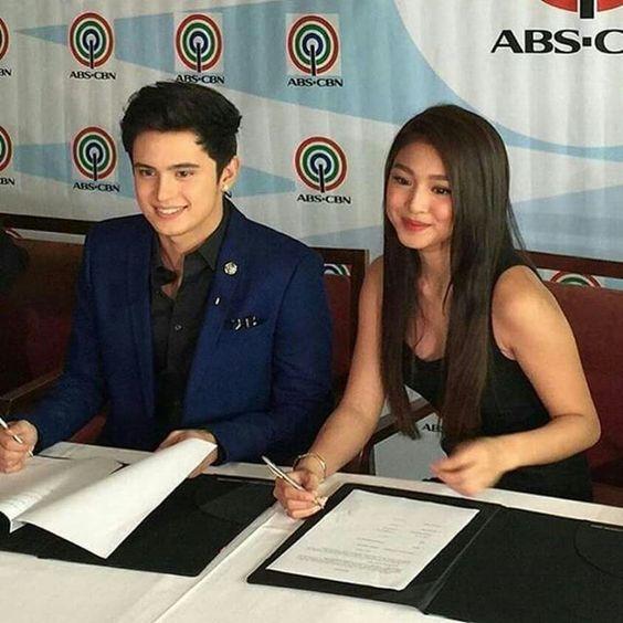 Jadine contract signing in ABS-CBN #nadinelustre #jamesreid #teamreal