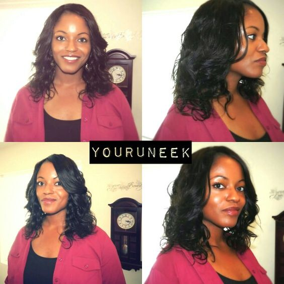 Custom wig virgin wavy hair