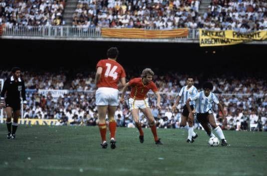#España82 \ Argentina 0 Bélgica 1. La  Campeona del Mundo del 78, pierde en la Inauguración del Mundial 82