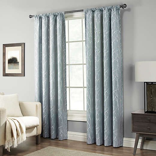 Pinehurst Rod Pocket Window Curtain Panel Bed Bath Beyond Panel Curtains Curtains Living Room Window Curtains