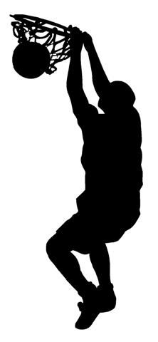Image result for basketball dunk silhouette