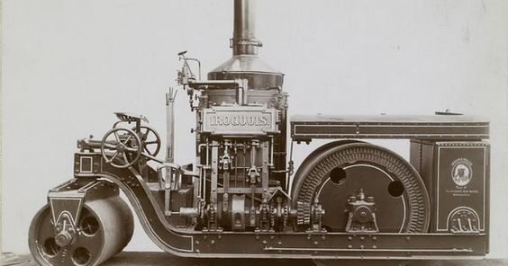 Iroquois steam roller. NYPL Science Industry & Business Library.
