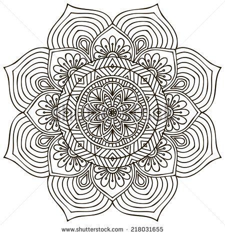 Mandala. Round Ornament Pattern. Vintage Decorative Elements. Hand Drawn Background. Islam, Arabic, Indian, Ottoman Motifs. Ilustración vectorial en stock 220160527 : Shutterstock