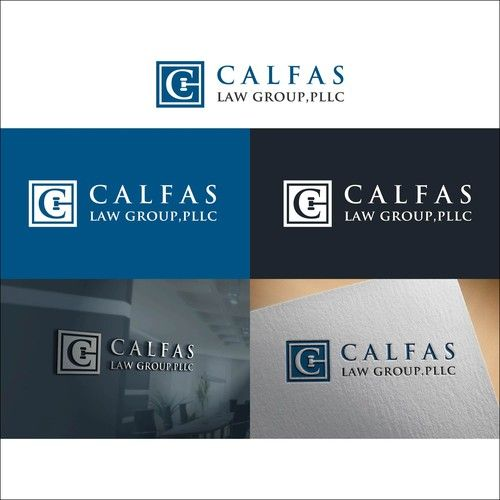 Calfas Law Group Pllc Top Law Firm Needs A Powerful New Logo Law Firm Modern Logo Logo Design Poster Design