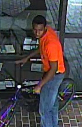 ANNE ARUNDEL COUNTY POLICE #GlenBurnie #ToCatchACrook makes a return  Let's ID this thief and get this bike returned  On August 10th, at 2:26 p.m., the pictured suspect stole a bicycle parked outside of the Glen Burnie Regional Library located at 1010 Eastway in Glen Burnie.  Anyone with additional information on the identity or the whereabouts of the above suspect is asked to contact Northern District and Ofc. Thompson at 410-222-6135.