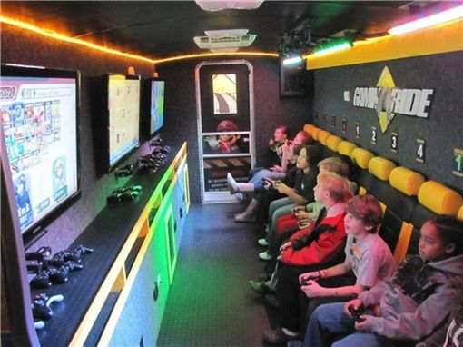 Ride along buses and awesome on pinterest Cool gaming room designs