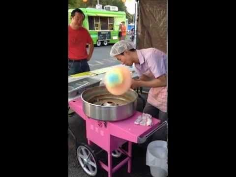 Making Fancy Cotton Candy Flower Cotton Candy In Surrey Night Market Bc Canada 2015 Youtube In 2020 Night Market Candy Flowers Candy Art