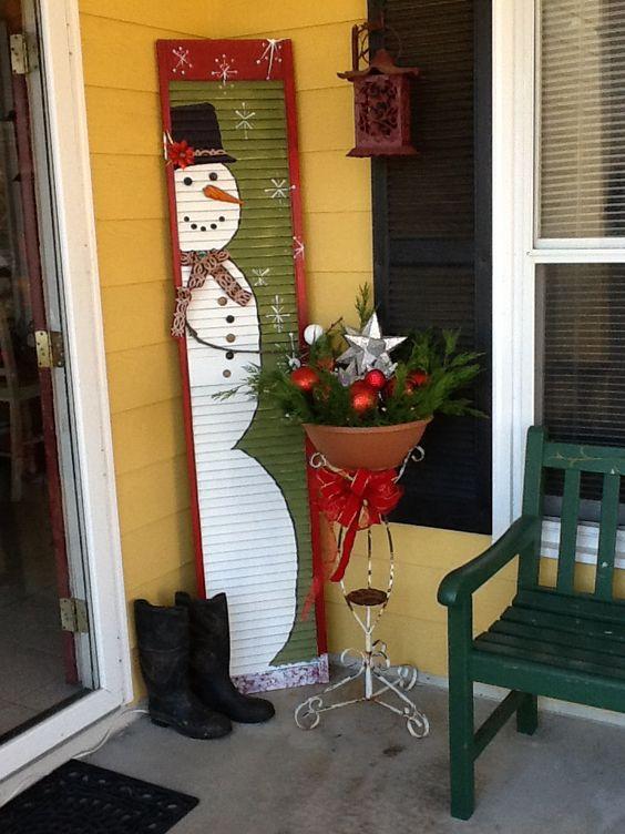 Shutter snowmen snowmen pinterest shutters snowman for Window shutter crafts