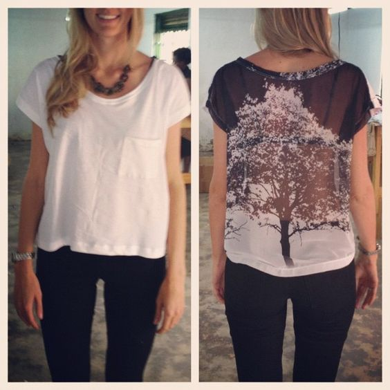 A casual tee with a sexy back #fairtrade #ethicalfashion #africa  (at Kololo)