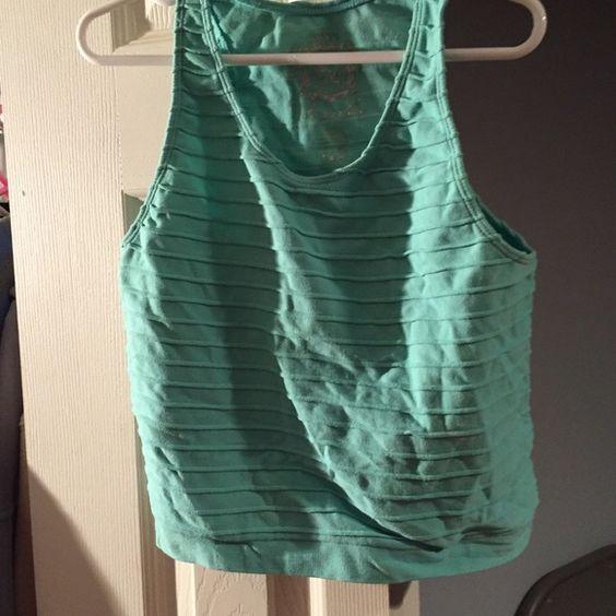 Real Crop Top Cute Teal Crop Top, perfect to wear in summer Express Tops Crop Tops
