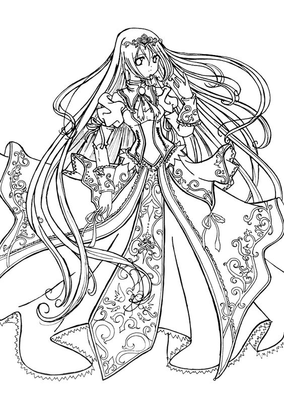 Princess Coloring Pages Love The Anime This Would Be Cool To ...