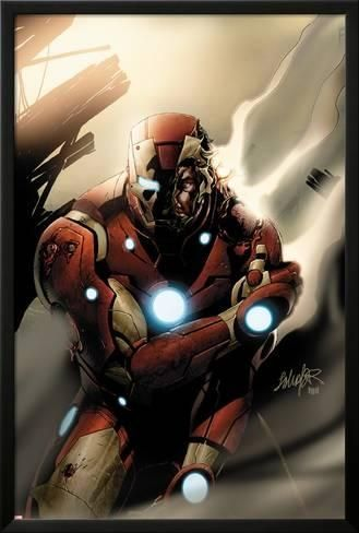 Lamina Framed Poster Invincible Iron Man No 33 Cover Iron Man