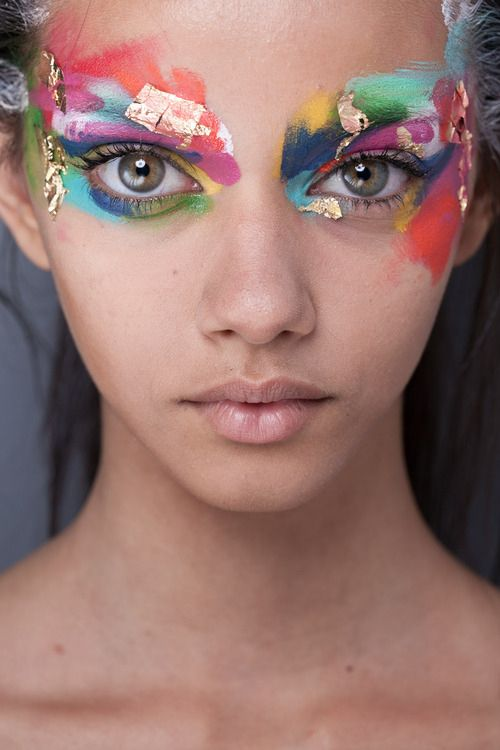 High Fashion Makeup color colors colour colours colorful colourful paradise