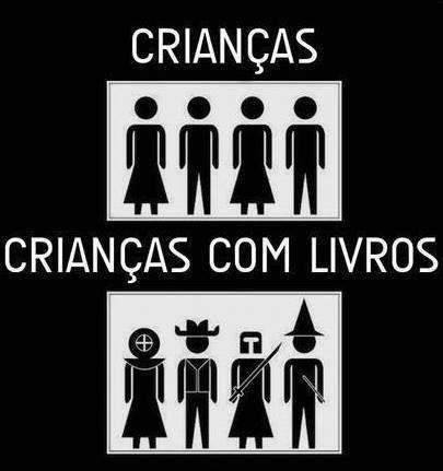 Post  Fala Sério!   : CRIANÇAS + LIVROS = CRIATIVIDADE !