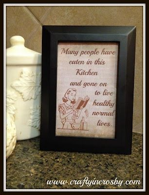 Crafty In Crosby - Kitchen Word Art Freebie
