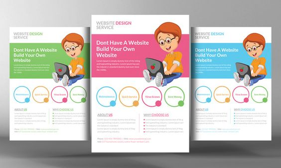 Website Design Flyer Template by Business Templates on - web flyer
