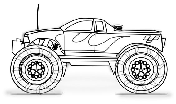 Free Printable Monster Truck Coloring Pages For Kids Monster Truck Coloring Pages Race Car Coloring Pages Cars Coloring Pages