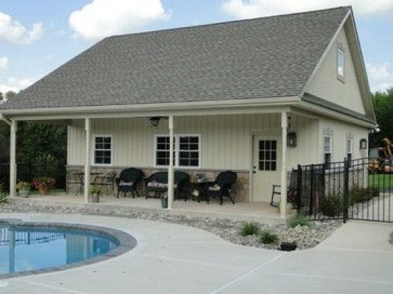 Garage Pool House Collegeville Pa Residence Pool House And Garage Traditional Exterior Chickenhouses Exterior House Remodel House Exterior Pool House