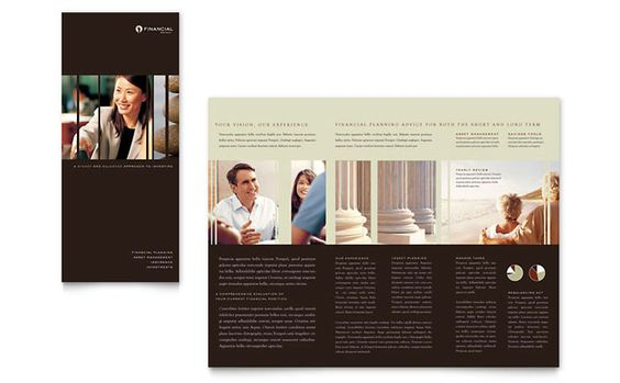 Financial Planner Brochure Design Template by StockLayouts Work - law firm brochure