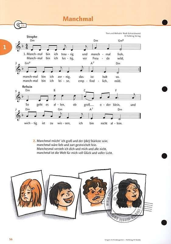 Singen Im Kindergarten Allgemeine Ausgabe Im Stretta Noten Shop Kaufen Kindergarten Lieder Kinder Lied Kinderlieder