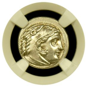 Kingdom of Macedon Alex III AR Drachm NGC Mint State