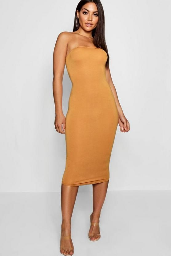 Bandeau Bodycon Midi Dress | Boohoo