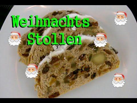 Weihnachtsstollen, Christstollen, Weihnachtsgebäck ! Rezept - YouTube