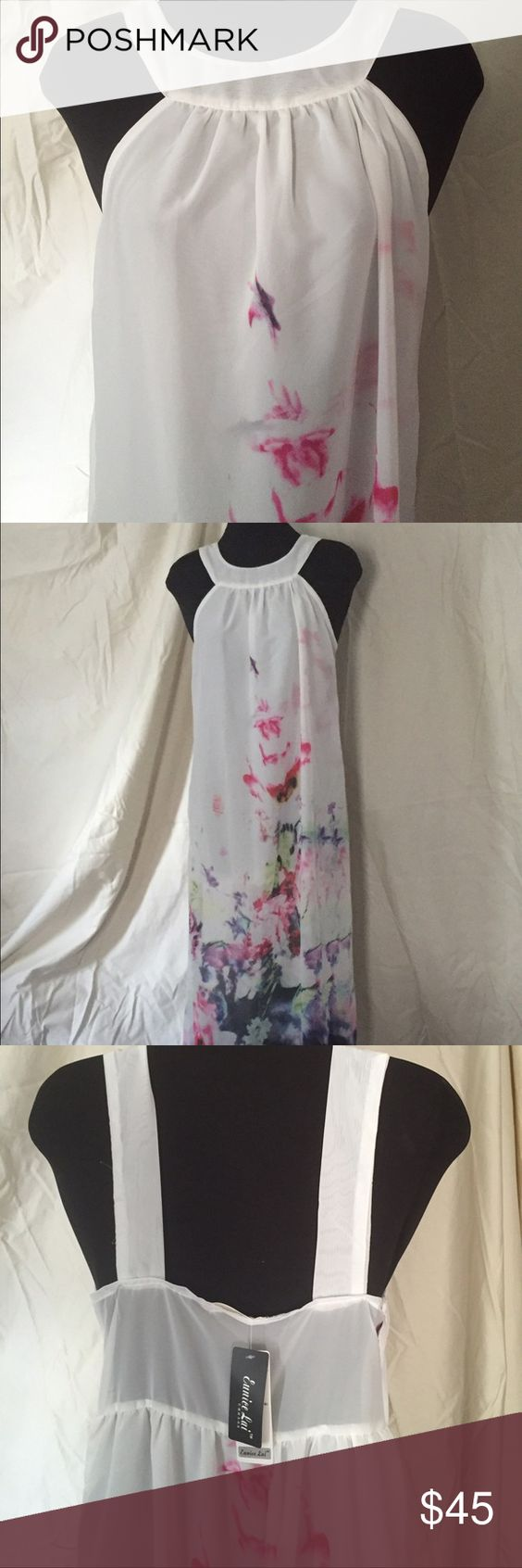 Floral maxi dress! Soft and flowing floral maxi dress with underdress. This is gorgeous but I haven't had occasion to wear it. It is new with tags. Dresses Maxi