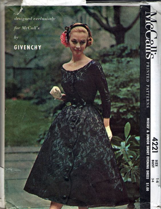 McCall's 4221  Givenchy 1957