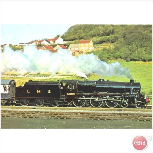 LMS 5305 Sir William Stainer Class 5 4-6-0 - Railway postcard