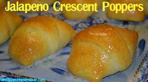 Bacon Jalapeno Crescent Poppers - Mrs Happy Homemaker