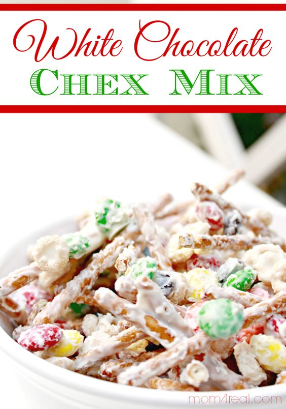 White Chocolate Chex Party Mix with M&Ms | Recipe | Chex party mix ...