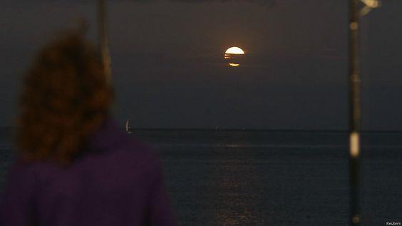 La superluna en el Río de la Plata