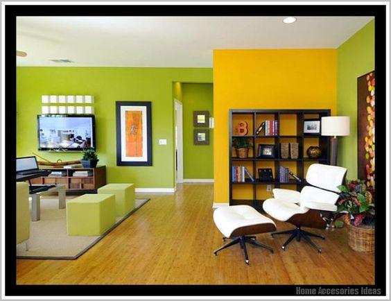Ideen Wandgestaltung Farbe Grun :  wandgestaltungmitfarbewohnzimmergrunhtml  Wohnzimmer  Pinterest