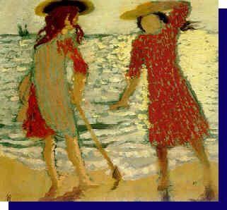 """Maurice Denis ~ """"Sur la plage"""", 1903"""