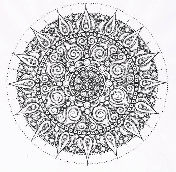 fancy mandala coloring pages - photo#17