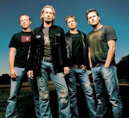 Chad Kroeger from Nickelback. Went to see them in concert a few years back. Back in KC June 5th.