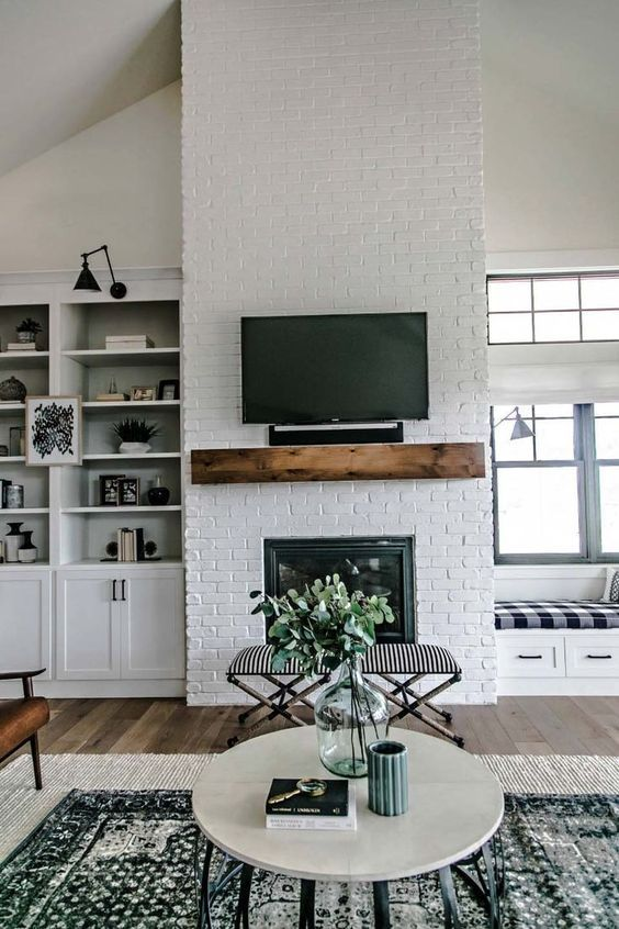 floating fireplace mantel