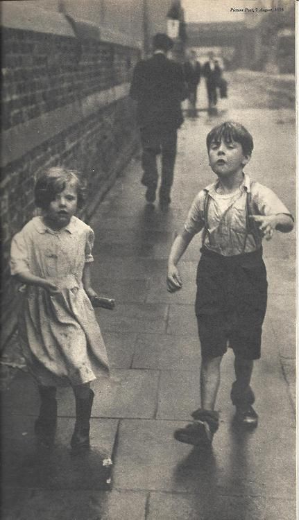 """London street kids. """"Picture Post"""" August, 1954"""