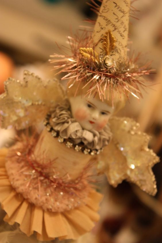 precious!: Altered Art Christmas, Christmas Crafts, American Crafter, Antique Dolls, Christmas Decorations, Altered Art Dolls, Antique Christmas, Christmas Ornament