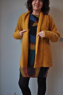 GBSB Drapey Knit Dress and a mustard Oslo