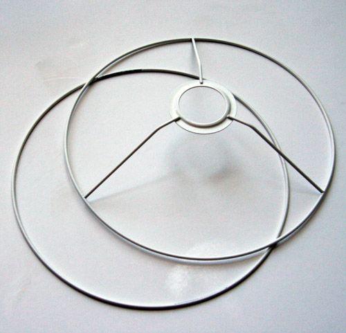 estructura pantalla lampara para forrar