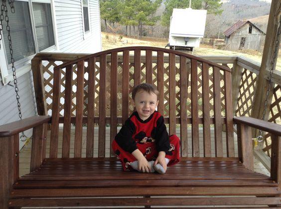 Black Walnut Porch Swing