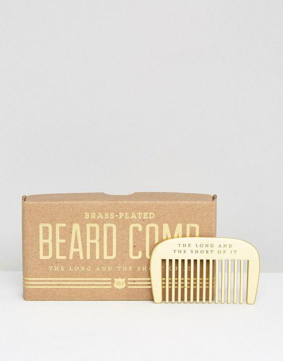 Image 1 - Men's Society - Peigne à barbe en laiton